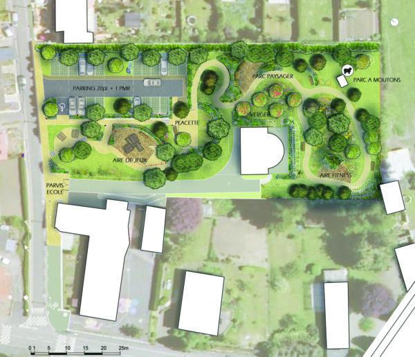 Aménagement d'un parc paysager